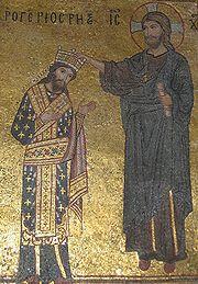 Jézus királlyá koronázza II.Rogert